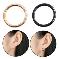 1pc Surgical Steel Thin Small Silver Nose Ring Hoop Cartilage Piercing Stud