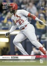 2019 Topps Now #102 Marcell Ozuna-5th HR In 4 Games Highlight 6-3 Win (317 PR)