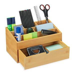 Schreibtisch Organizer Schreibtischbutler Bambus Büro Organizer Aufbewahrungsbox