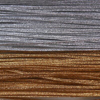 3MM METALLIC SILVER OR GOLD FLAT RUSSIA BRAID / CORD X 5 M - GLITZY