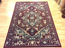 HIGH QUALITY SERAPI DESIGN RED CREAM Wool Traditional Orient Rug 160x230cm -50%