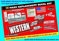 15 Western Snow Plow PRO PLUS Decal Kit Blade Ultra Mount 11 Piece Set WK-ULT-PP