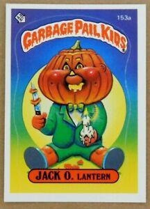 1986 Garbage Pail Kids JACK O. Lantern Series 4 GPK Vintage Sticker Card 153a