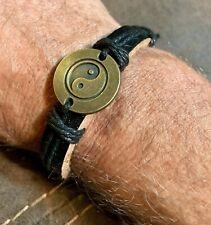 Yin Yang & Free Gift ! U Get 2 ! Unisex Leather Bracelets
