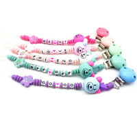 Baby infant wooden beaded pacifier holder clip nipple teether dummy chain gifZJP