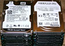 Lot of 14 160GB 250GB 320gb 2.5