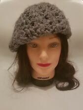 DOROTHY PERKINS Womens Grey Chunky Knit Beret Floppy French Hat