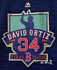 David Ortiz Final Season Boston Red Sox Women's Quarter Zip XL Majestic