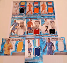 Spectra Soccer 2016/17 Neon Azul Camisa Jersey/relic/#75 Tarjetas De Recuerdos