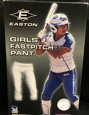 Easton Girls/Youth Large White FastPitch Pants with Bio-Dry Microfiber Tech.