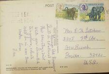 O) 1969 SWAZILAND, KING SOBHUZA II-MONKEY-CHACMA BABOON-OLD WORLD MONKEY, ELEPHA