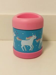 New Pottery Barn Kids Rainbow UNICORN Hot Cold Insulated 10 Oz. Thermos Pink