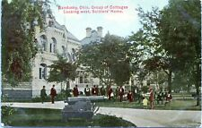 Sandusky Ohio Group of Cottages Looking West Soldiers Home 1910 Postcard