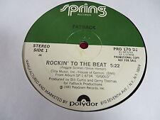 "12"" SINGLE FATBACK ROCKIN' TO THE BEAT 1981 SPRING PRO 170 DJ PROMO"