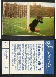 Figurina Fotocalcio Sagittario 1969-70 n.15 Fiorentina-Verona 1-0 Nuovissima! ▓