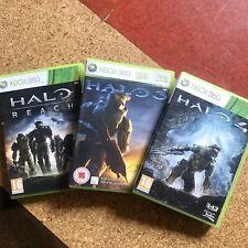 xbox 360 games Halo Reach, 3 & 4