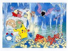 Pokemon 1999 Cave Japanese Promo Beautiful Post Card Pikachu Bulbasaur Squirtle