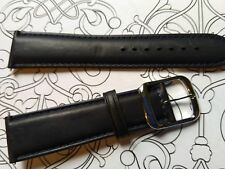 BRACELET  DE MONTRE watch band cuir Véritable  VEAU   noir   20mm    / FP 50