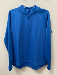 Nike Women's Golf Therma Victory Qtr-Zip CU0817 Royal Blue Jacket NWT $75 Large