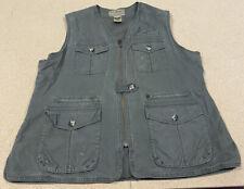 Vintage Men's LL Bean Fishing Safari Full Zip Vest Men's Size XL