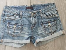 Miss Selfridge Vintage Denim Low Rise Shorts Front & Back Pockets UK 10