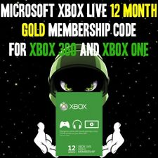 Microsoft Xbox LIVE 12 Month Gold Membership Code for Xbox 360 and Xbox One