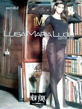 Luisa Maria Lugli Rachele Rhombus Design Micro Tights Brown Pantyhose Size S