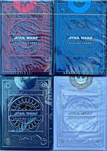 Theory11 Star Wars Combo Playing Cards The Light Dark Side Silver Blue Red Poker
