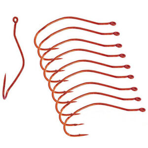 Mustad UltraPoint Slow Death Red Fishing Hooks (10 Ct) - 1