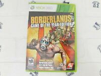 Borderlands- Game of the Year Edition (Microsoft Xbox 360, 2010) Cleaned, Tested