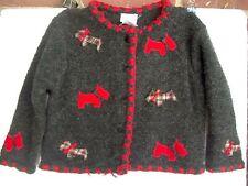 Talbot Kids NWT Scottie Dog Sweater 24M Machine Wash Cotton Blend Dog Appliques