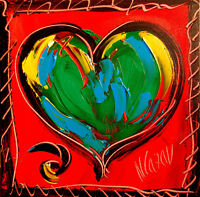 NICE HEART  by Mark Kazav  Abstract Modern CANVAS Original Oil Painting NUIPUG