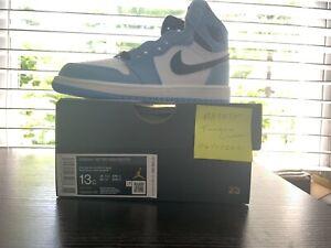 Nike Air Jordan 1 Retro High OG University Blue Black AQ2664-134 Size 13c PS