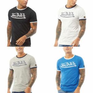 Mens T Shirt Designer Top Von Dutch Short Sleeve Gym Casual Slim Muscle Fit -NEW