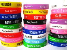 24 stk Mischfarben Gummi Kinder Bester Freund Armbänder