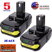 2x For Ryobi P102 18V One+ Battery 2Pack for Ryobi P104 P108 P109 Lithium 18Volt