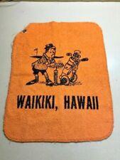 1950's Vintage Hawaiian Novelty Golf Bag Towel WAIKIKI , HAWAII