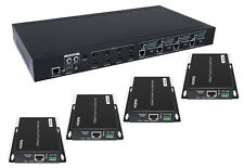 4x4 HDBaseT HDMI 2.0 Matrix Switcher Extender 4K UHD HDR10 POC RS232 IP Control