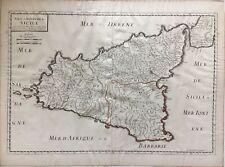 Isle et Royaume de Sicile 1663 Antique Map Nicolas Sanson Sicily Italy