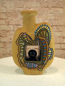 Moderne Vase Keramik Oval Ovalform 33,5 cm hoch