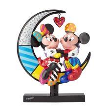 Romero Britto Disney Mickey and Minnie on the Moon Figurine