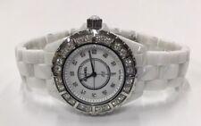 Chanel J12 H2429 Ladies Midsize 33mm Quartz White Ceramic Diamond Wristwatch
