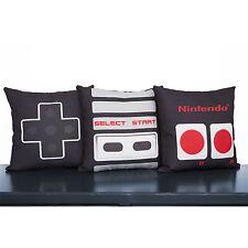 Nintendo Controller Pillow Cases Set, Video Game Art Throw Pillows, NES Decor