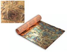 3 Blue Gold Annealed Metal Foil Leaf Squares for Adults Gilding Crafts