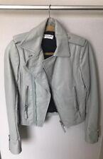 Balenciaga Grey Leather Moto Motorcycle Jacket Size 6/38 Classic Lambskin
