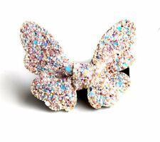 Handmade 1 Piece Lovely Cute Glitter White Butterfly Baby Girl's Hair Clips
