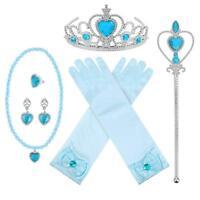 Princess Dress Up Halloween Party Set Girls Gloves Tiara 6 Piece Accessory Pack