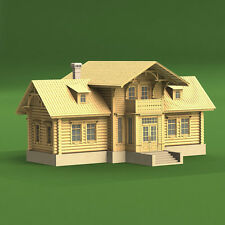 Vilage Consil Kit, Russian log house, 2340 PARTS SCALE 1:35