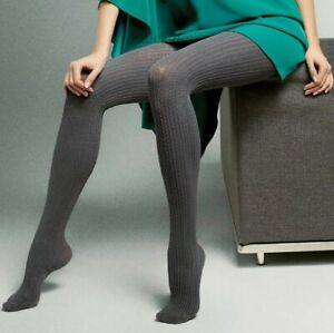 """Women Warm Opaque Patterned Tights """"Celine"""" 150 DEN Cotton S M L"""