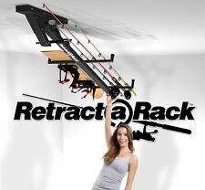 Retract-A-Rack Ceiling Rod Equipment Skis Tool Golf Storage Sports Garage White